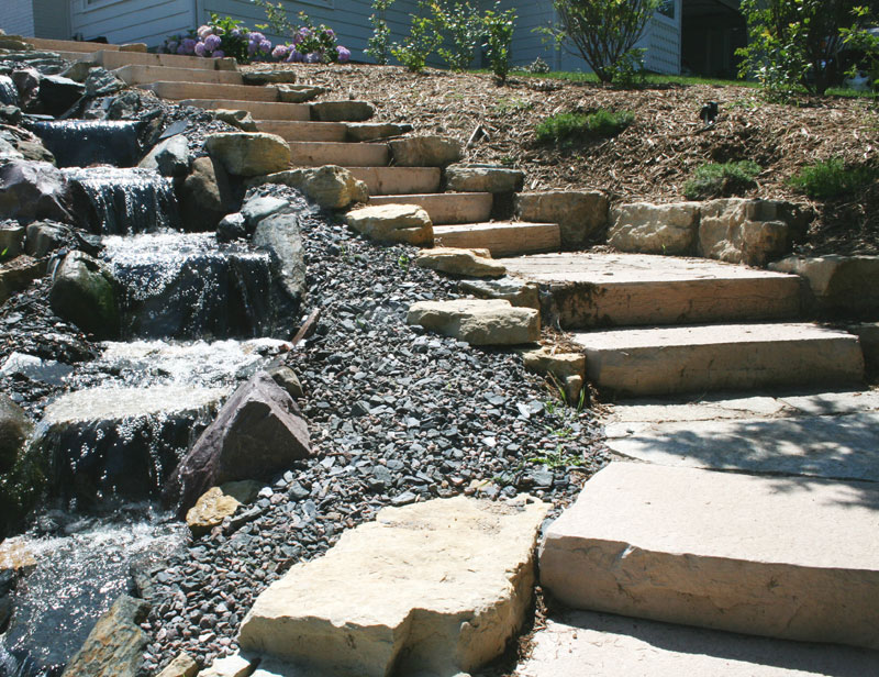 Rocksteps lightweight stone steps stairs landscape for Landscaping rocks you can walk on